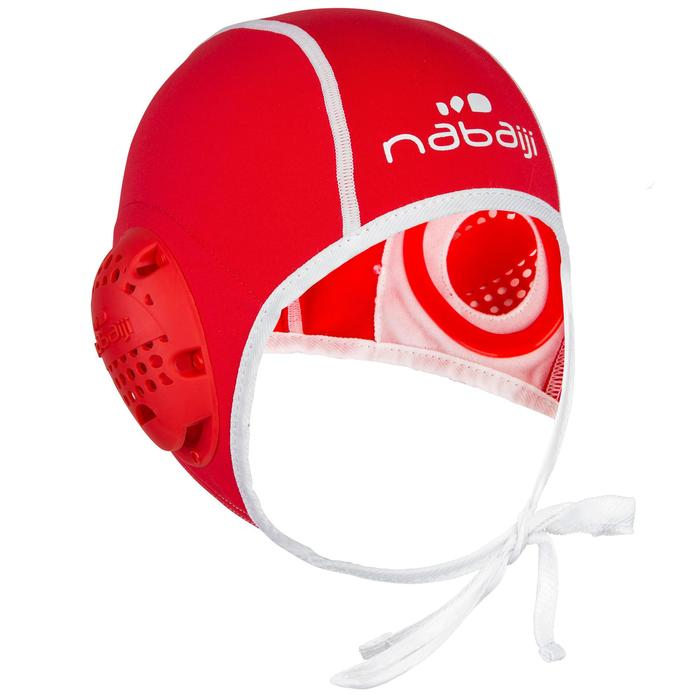 Bonnet water polo 500 adulte rouge