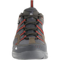 Arpenaz 100 Men's Waterproof hiking boots - Brown/Red