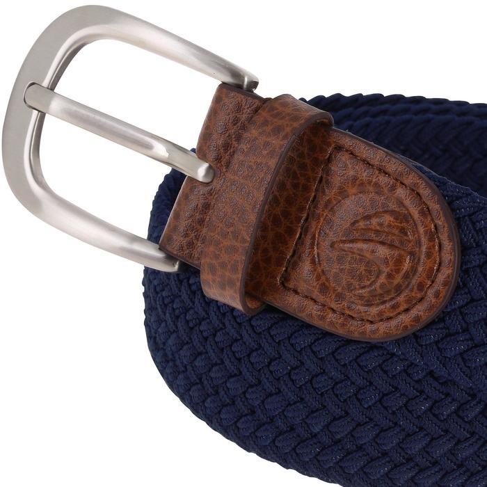 Rekbare riem 500 voor golf, volwassenen, marineblauw maat 2