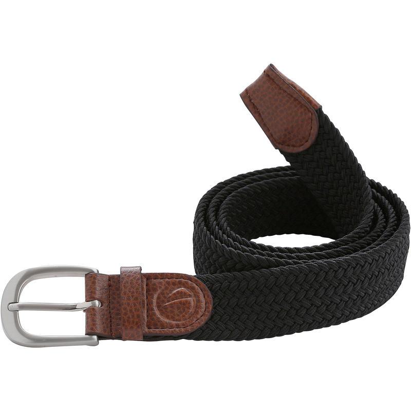 Black Adult Golf Size 2 Stretchy Belt