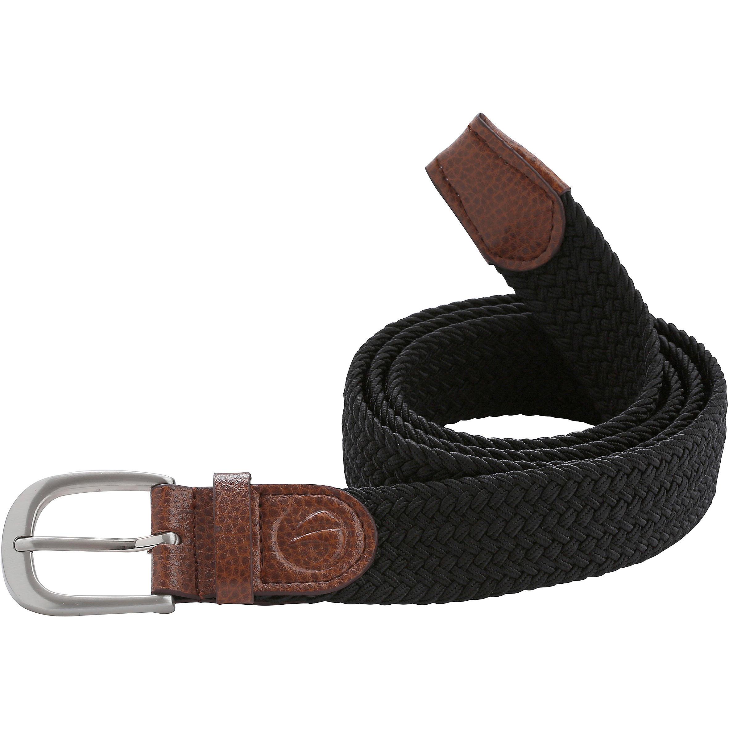 Cinturón de golf extensible 500 adulto negro (108 a 135 cm)