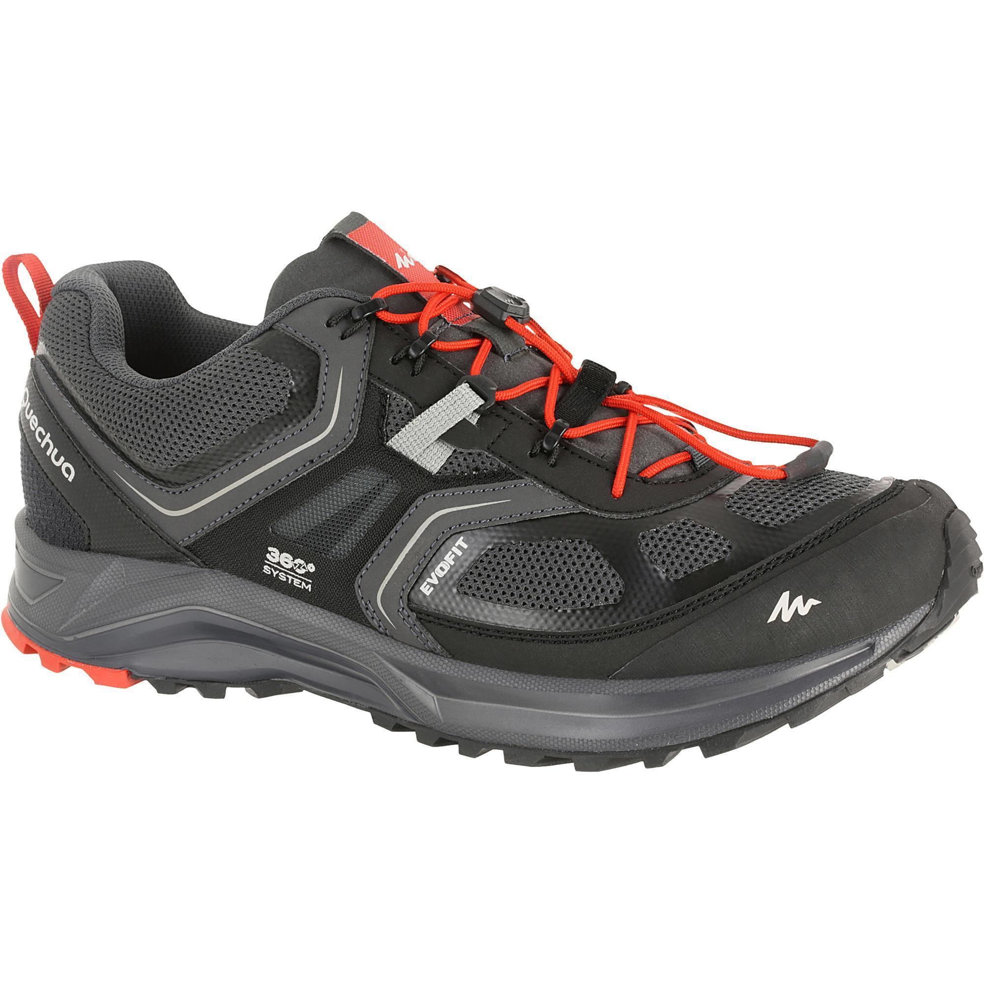 Forclaz 500 Helium Men S Quick Hiking Shoes Black Quechua