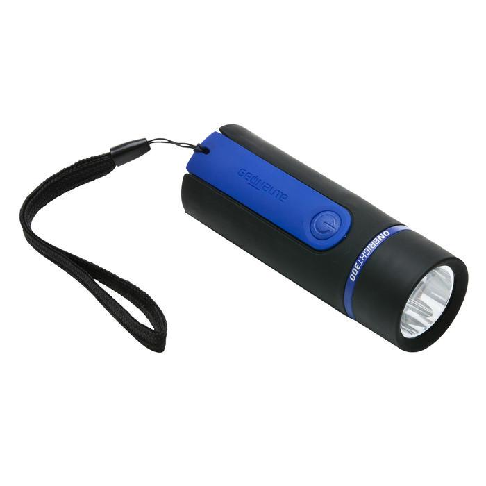 Zaklamp ONBRIGHT 300 voor trekking rubber blauw - 30 lumen