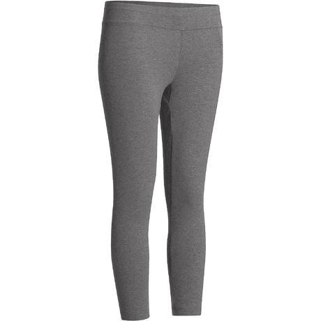 Legging 7 8 Fit+ 500 slim Pilates Gym douce femme gris chiné ... 3d5bba5993e
