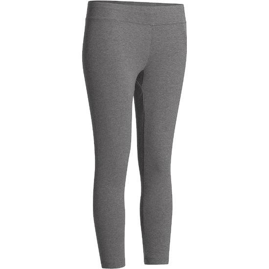 7/8-legging FIT+ voor dames, voor gym en pilates, slim fit - 752246