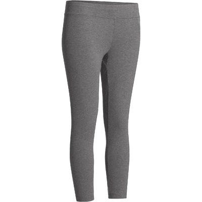 Legging 7/8 Fit+ 500 slim Pilates Gym douce femme gris chiné