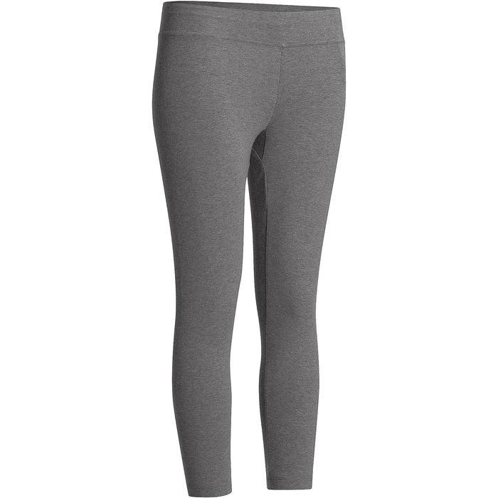 7/8-legging Fit+ 500 slim fit pilates en lichte gym dames gemêleerd grijs