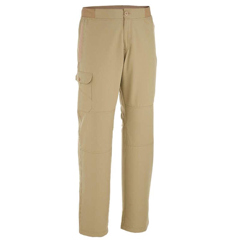 MEN NATURE HIKING PANTS Hiking - Arpenaz 50 Mens Pants - Beige QUECHUA - Hiking Clothes