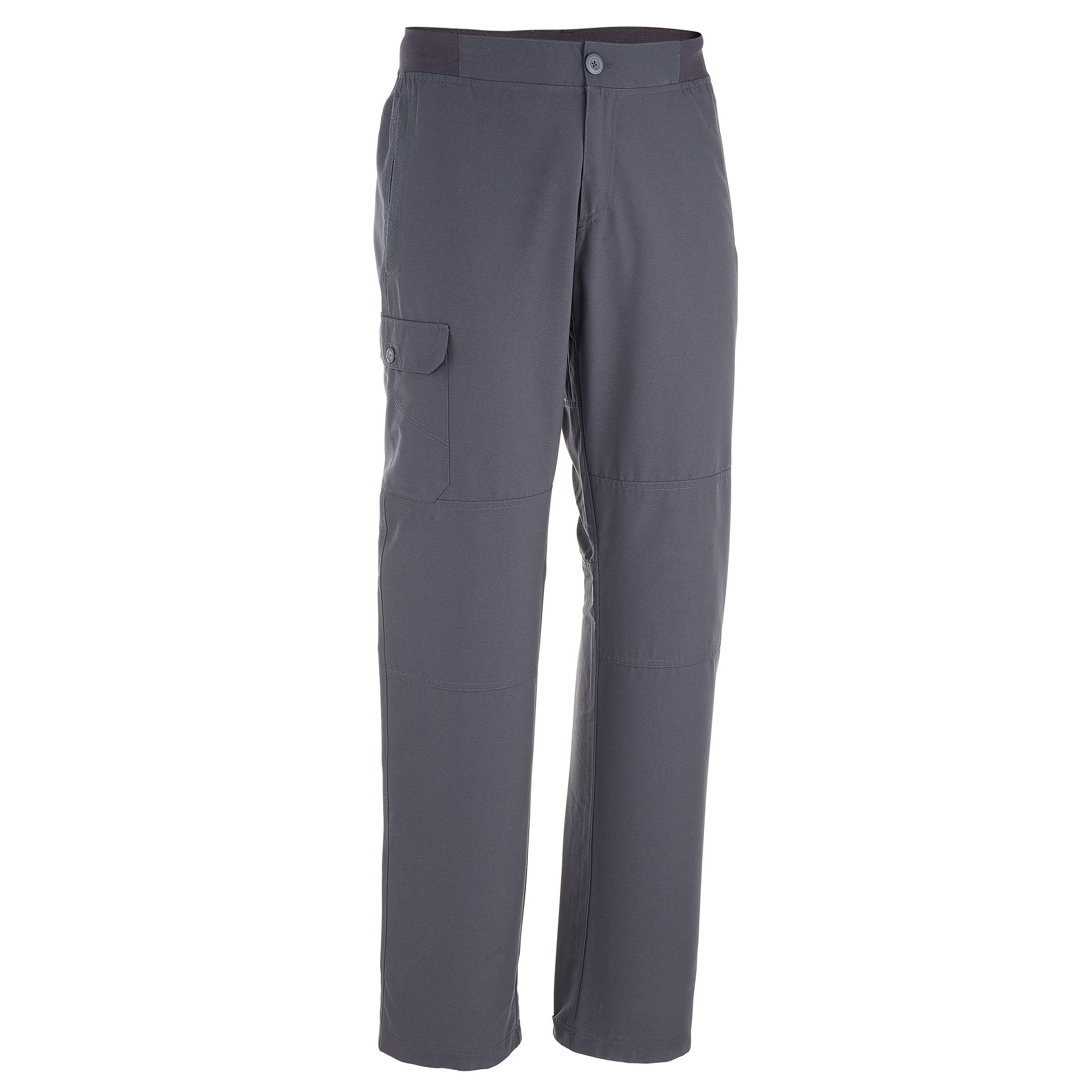 Arpenaz 50 Men's Plain Hiking Trousers - Grey