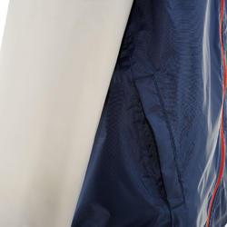 Chamarra impermeable de senderismo júnior MH150 azul marino y gris 7 A 15 AÑOS