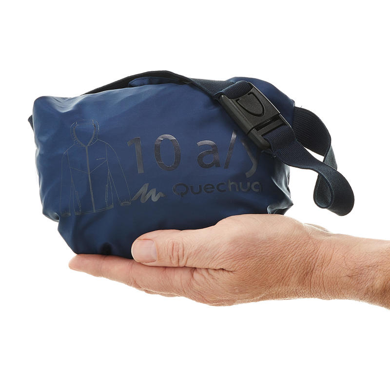 Veste imperméable de randonnée enfant Hike 150 bleu Marine