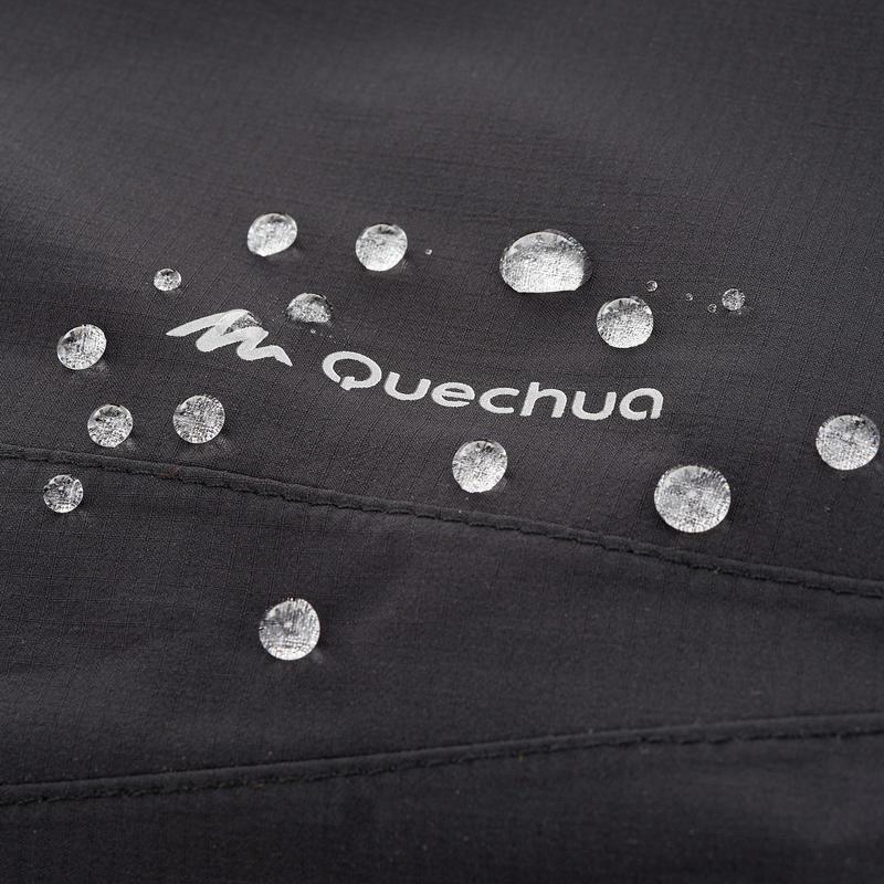 Forclaz 100 Lady's Hiking Waterproof Rain Overtrousers - black