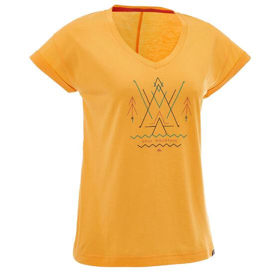 T-shirt korte mouwen trekking dames Arpenaz 100 - 753099