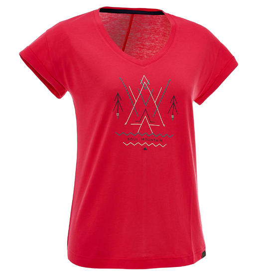 T-shirt korte mouwen trekking dames Arpenaz 100 - 753106