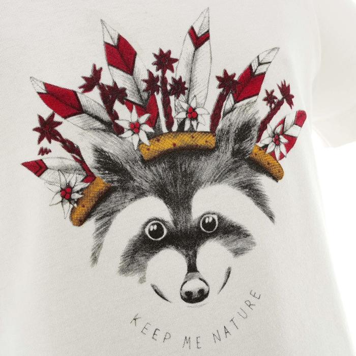 T-Shirt de randonnée enfant fille Hike 500 hibou - 753113