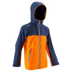 100 Kids' Waterproof Sailing Oilskin - Bright Blue