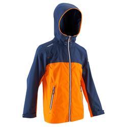 100 兒童航海防風外套 藍色/橘色