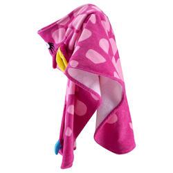 Kinderponcho met kap Gigi roze - 753305