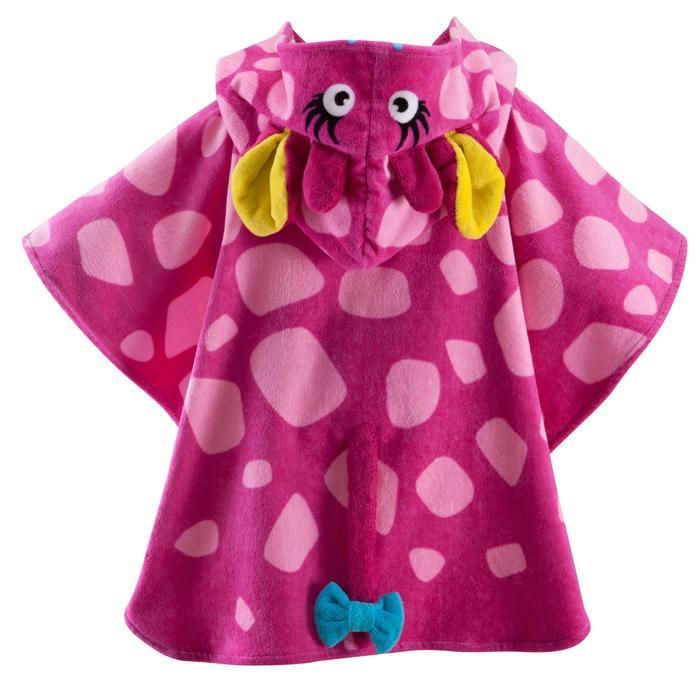 Poncho bébé avec capuche rose gigi - 753306