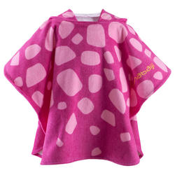 Kinderponcho met kap Gigi roze - 753307