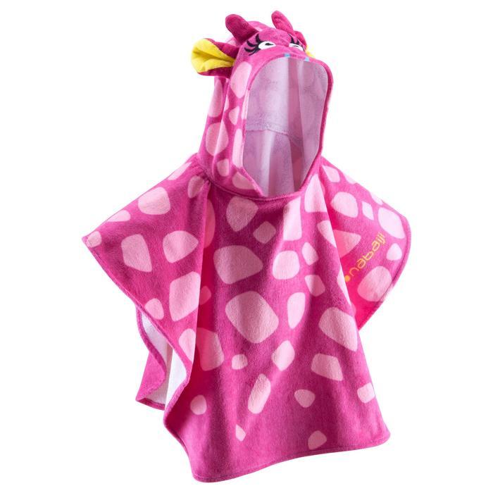 Kinderponcho met kap Gigi roze