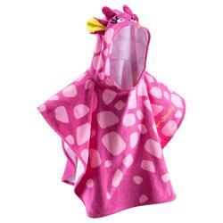 Poncho bebé con capucha rosa gigi