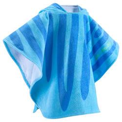 Kinderponcho met kap Zebro blauw - 753312