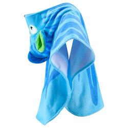 Kinderponcho met kap Zebro blauw - 753314