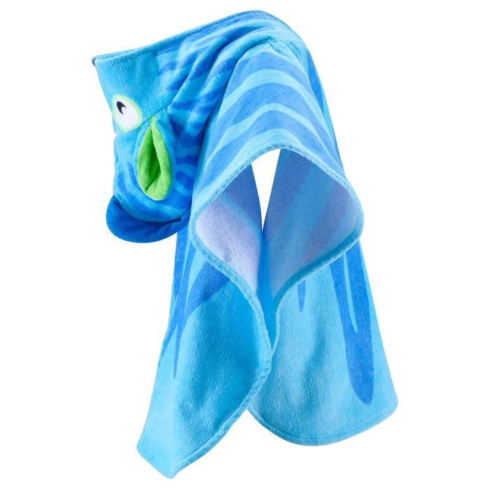 Poncho bébé avec capuche bleu zebro - 753314