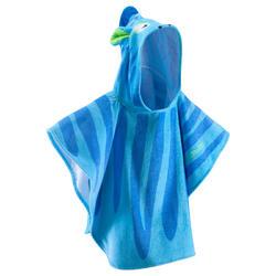 Poncho bebé con capucha azul zebro