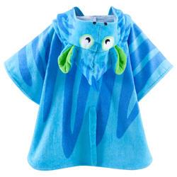 Kinderponcho met kap Zebro blauw - 753319