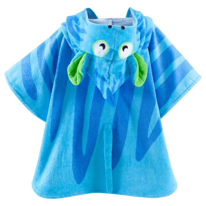 Poncho bébé avec capuche bleu zebro - 753319