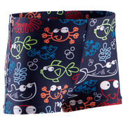 BABY / KIDS' SWIMMING BOXERS - BLUE FISH PRINT