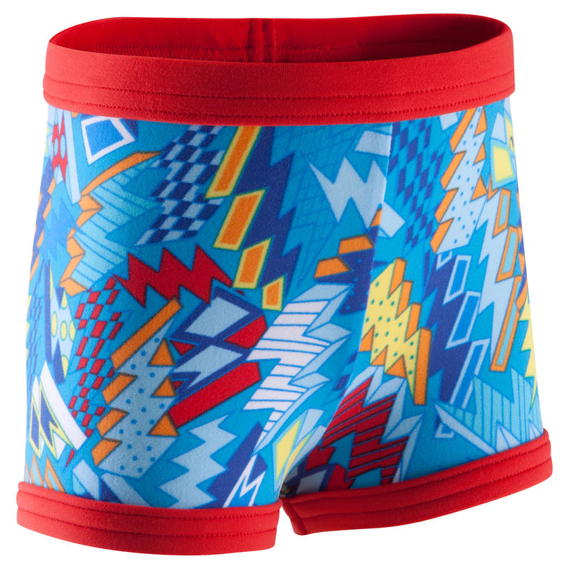 """Very soft baby swim shorts with """"all buzz"""" print - red"""