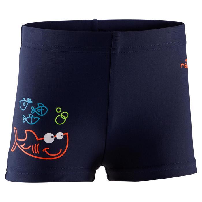 Maillot de bain bébé garçon boxer titou fish bleu