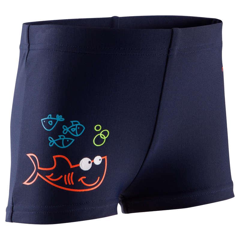 BABY SWIMSUITS & ACCESS. Swimming - Titou Baby Boxer - Fish Blue NABAIJI - Swimwear