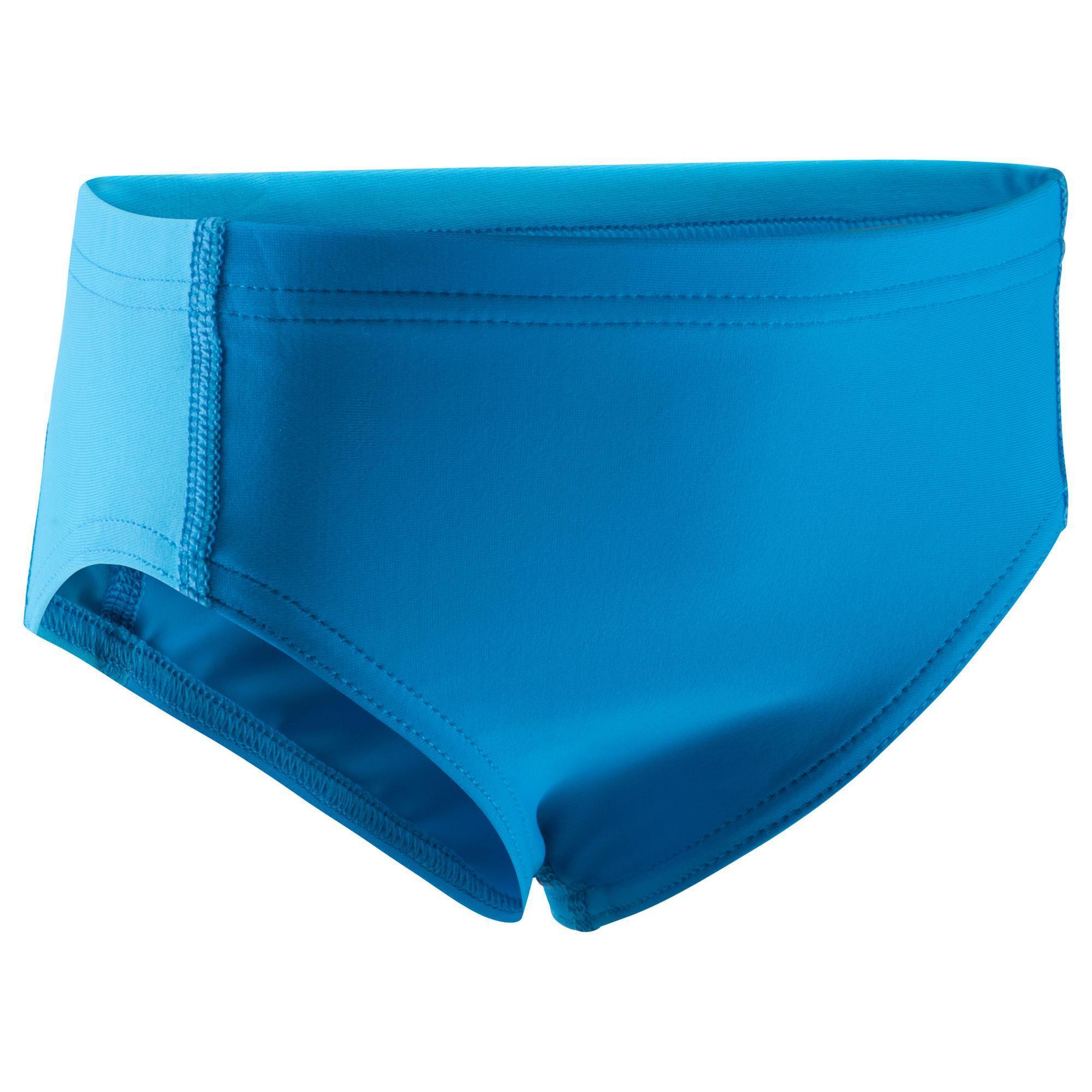Maillot de bain b b gar on slip yoke bleu nabaiji - Maillot de bain piscine decathlon ...