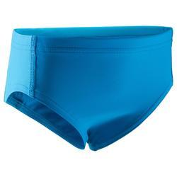 Bañador bebé slip azul con piezas laterales