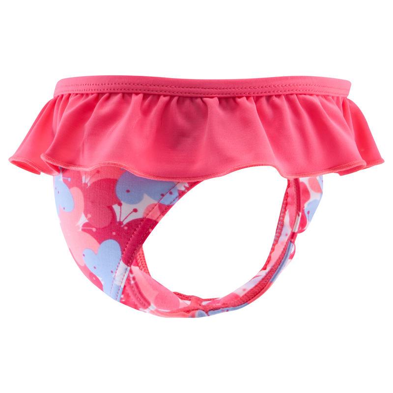 Baby Girls' One-Piece Swim Briefs pink butterfly print
