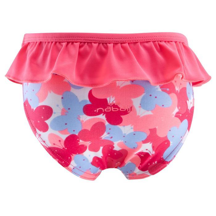 """Maillot de bain une pièce culotte bébé fille rose imprimé """"papillons"""" - 753375"""