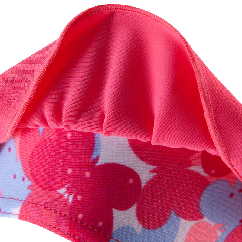 """Traje de baño 1 pieza braguita bebé niña rosado estampado """"mariposas"""""""