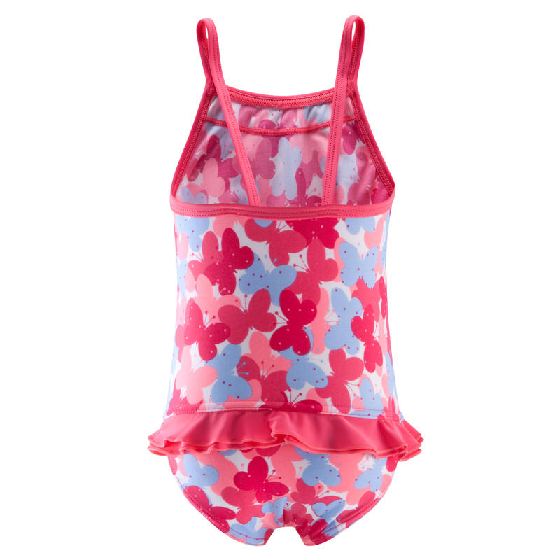 Madina Baby Girls' One-Piece Swimsuit with printed butterflies