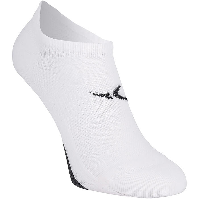 Calcetines Fitness Cardio Domyos Adulto Blanco Pack 2 Invisibles
