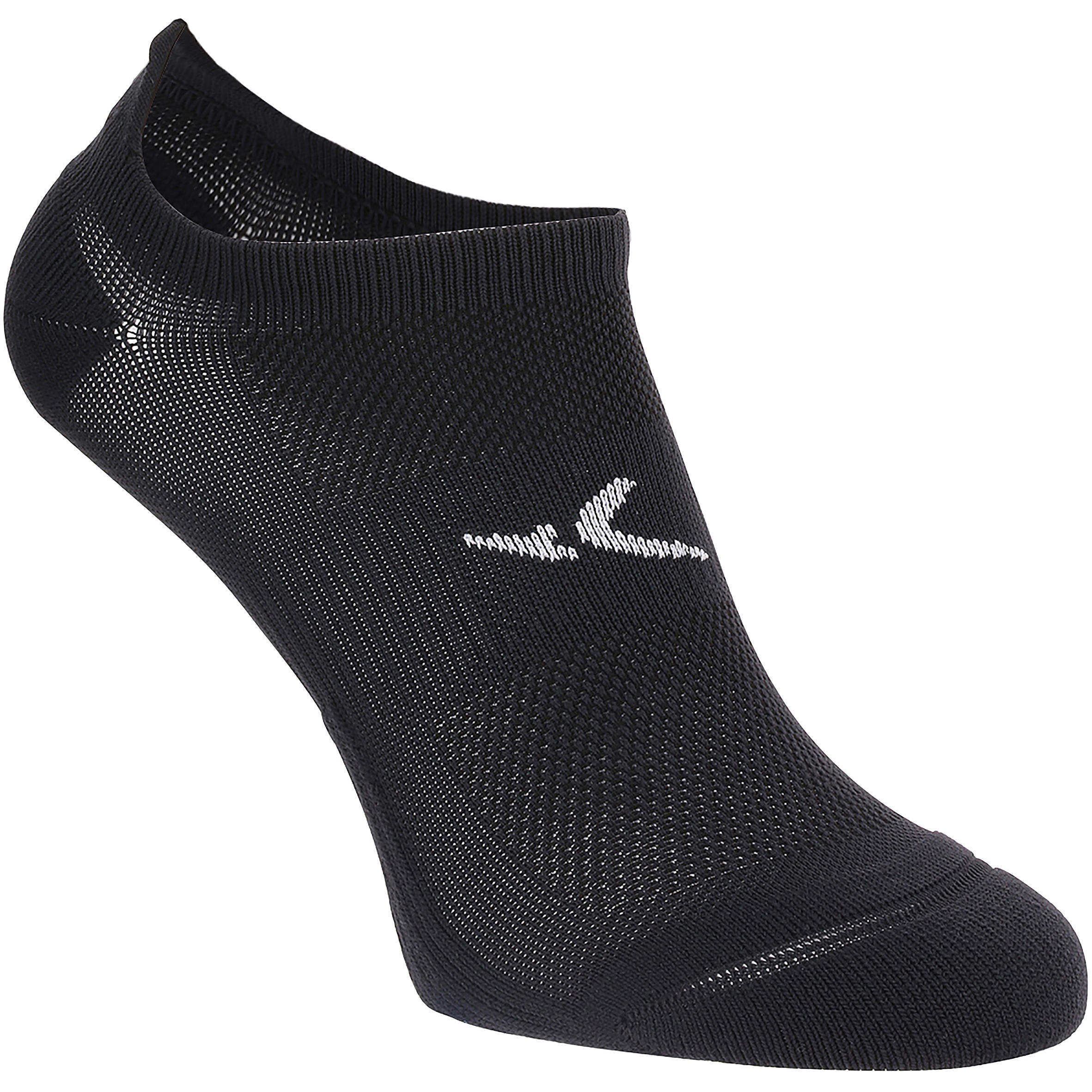 Calcetines invisibles fitness x2 negro
