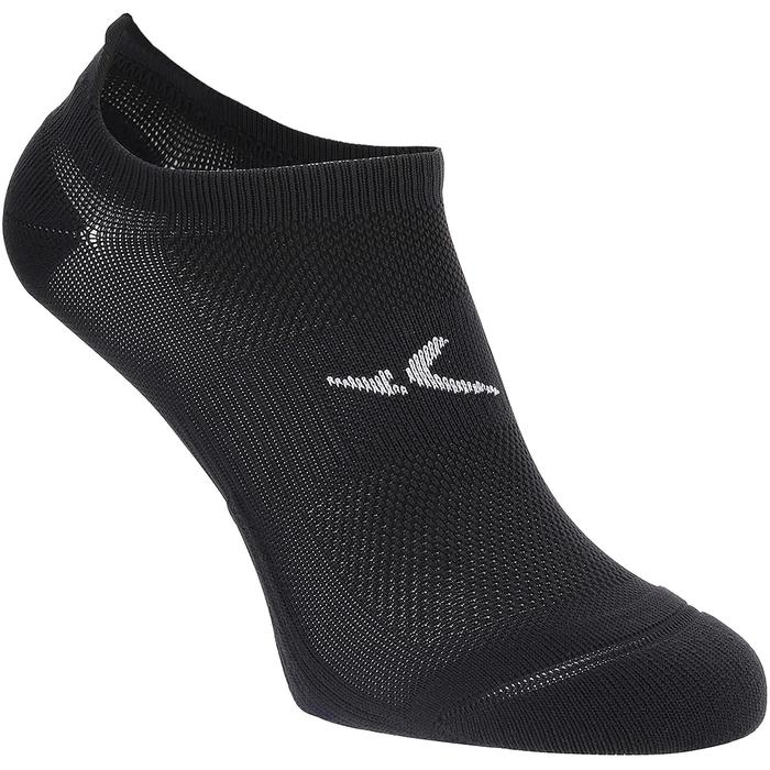 Calcetines invisibles fitness cardio-training x2 negro