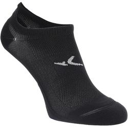 Sportsocken Cardio Fitness 2er-Pack Invisible schwarz