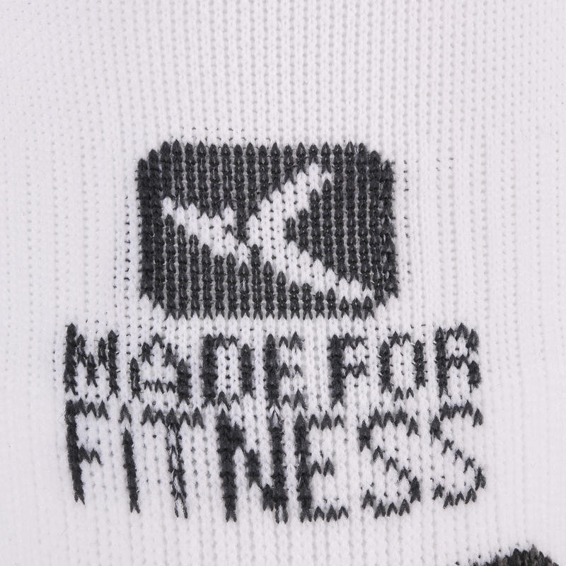 Calcetines invisibles fitness cardio training x2 blancos