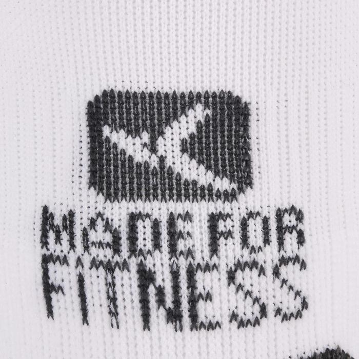 Calcetines invisibles fitness cardio training x2 blanco
