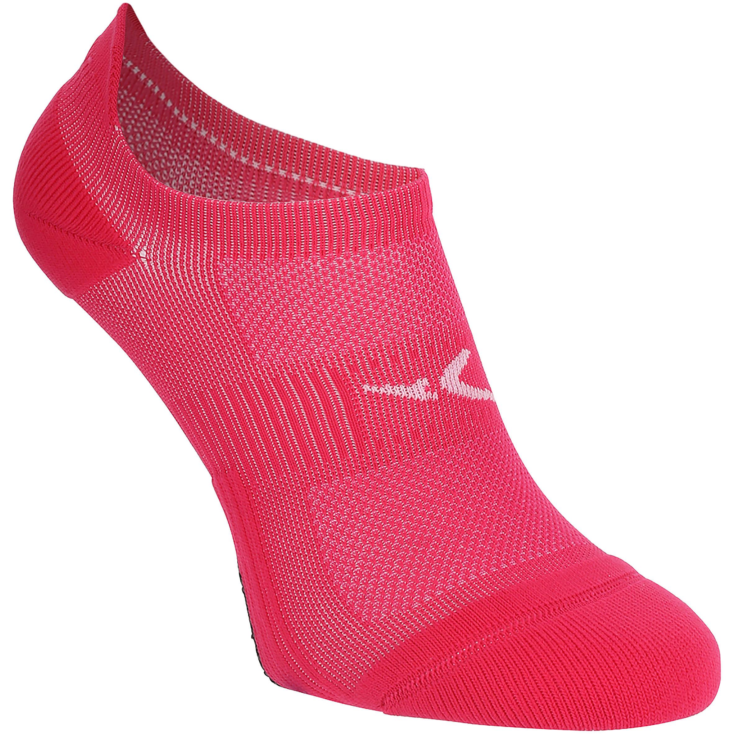 Sportsocken Invisible Fitness Cardio 2er-Pack rosa | Sportbekleidung > Funktionswäsche > Sportsocken | Rosa | Domyos
