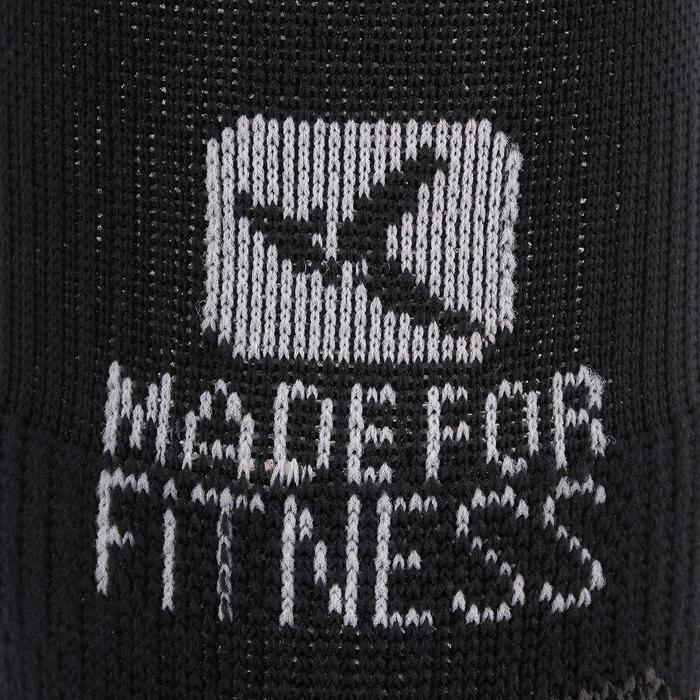 Chaussettes invisibles fitness cardio training x2 noir